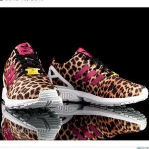 Adidas ZX Flux Leopard Sz 7.5